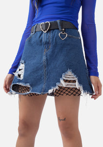 Torn 2 Pieces Denim Skirt