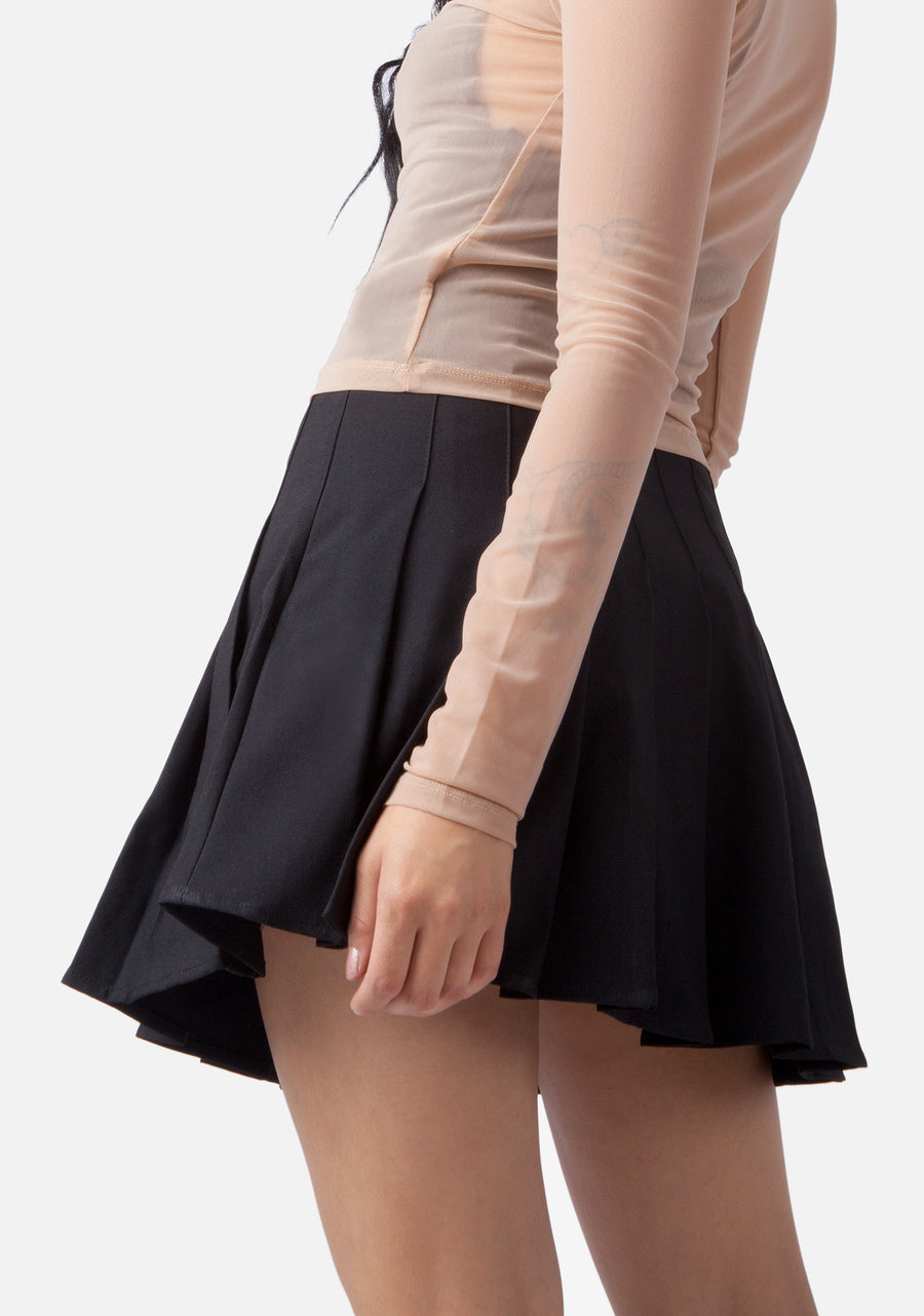 Poison Rose Pleated Skirt