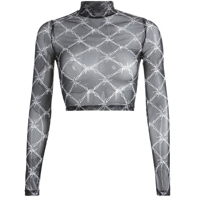 Barbed Wire Mesh Top