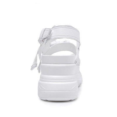 Chunky Buckle Platform Sandals (2 Colors)