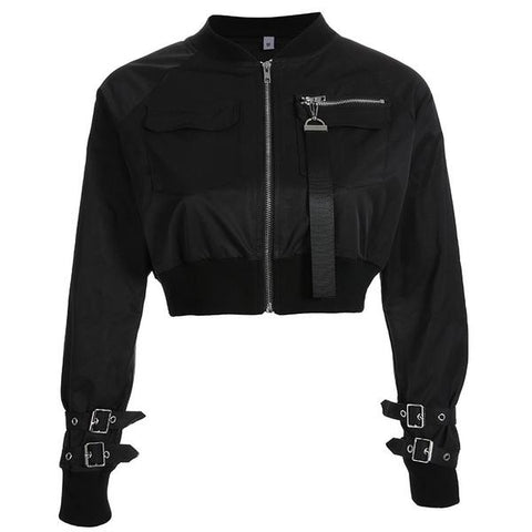 Dusk Crop Bomber Jacket (2 Colors)