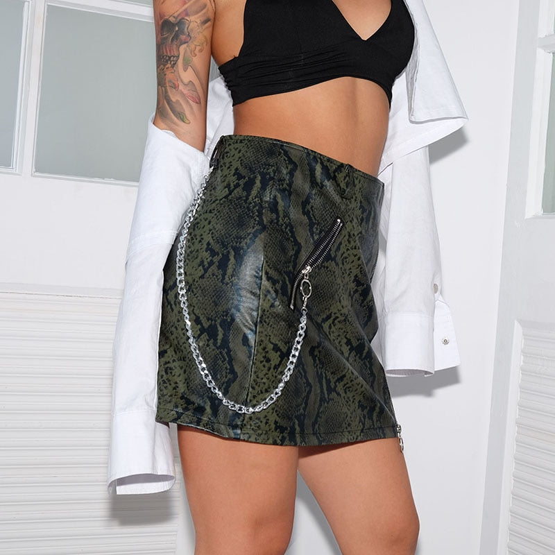 Reptile Chain Skirt