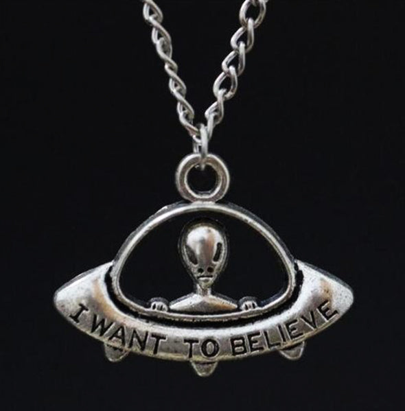 I Want To Believe Alien Necklace