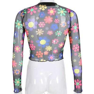 Flower Child Mesh Long Sleeve