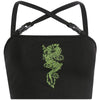 Lara Dragon Buckle Crop