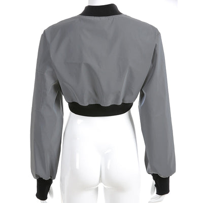 Reflective Exxtra Crop Jacket