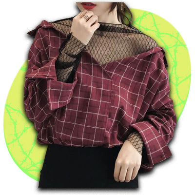 Reckoning Checkered Top