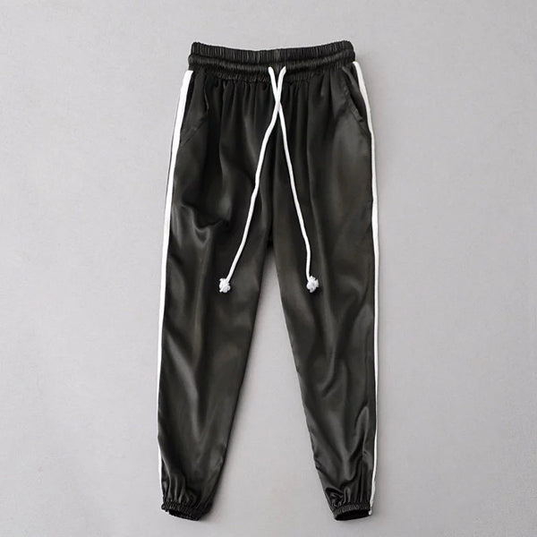 Classic Satin Cuffed Track Pants (9 Colors)