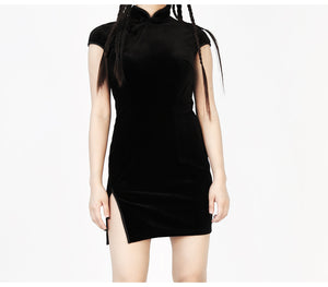 Velvet Heritage Qipao Mini Dress