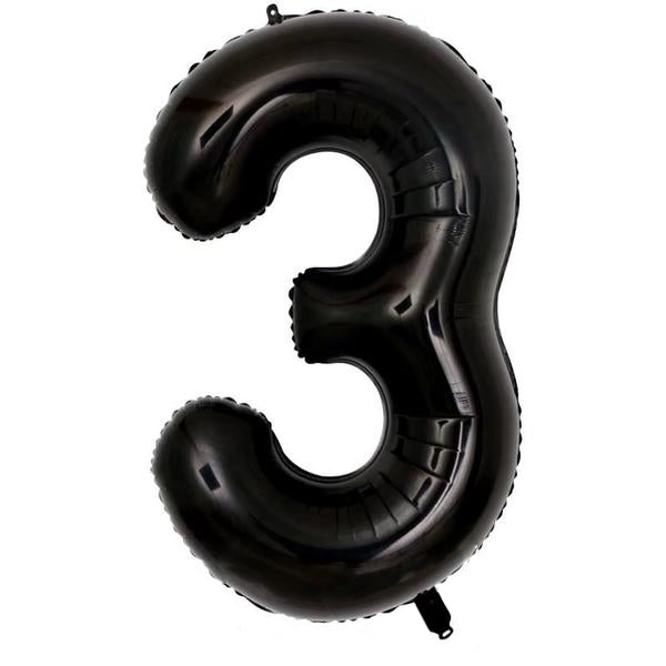 Black Number Balloons