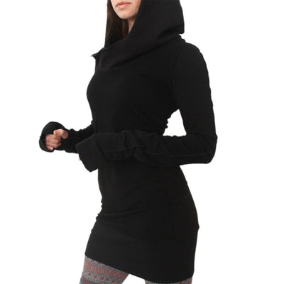 Decoy Long Sleeve Hooded Dress