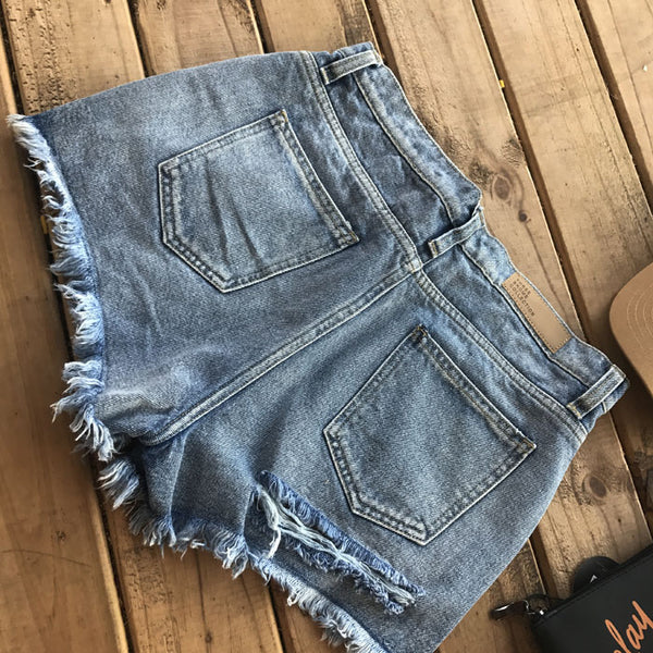 Peekaboo Torn Shorts (2 Colors)