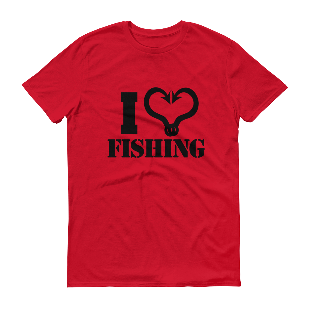 I Love Fishing Black Text T-Shirt