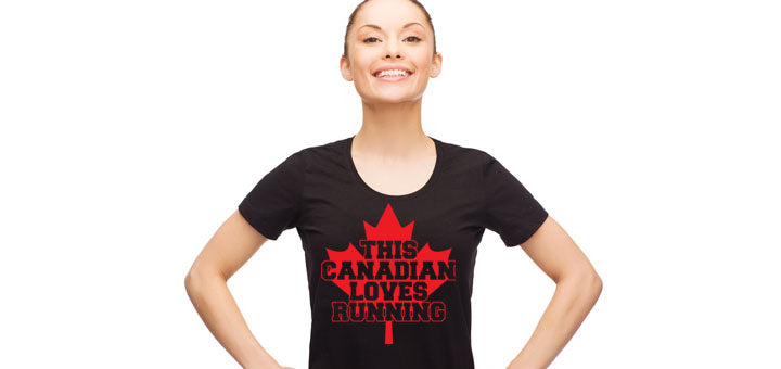 Canadians Love Running Ladies T-Shirt - Festival Printing