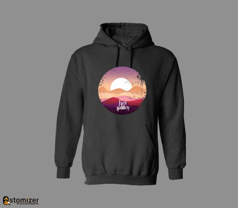 Classic Premium Custom Hooded Sweatshirt
