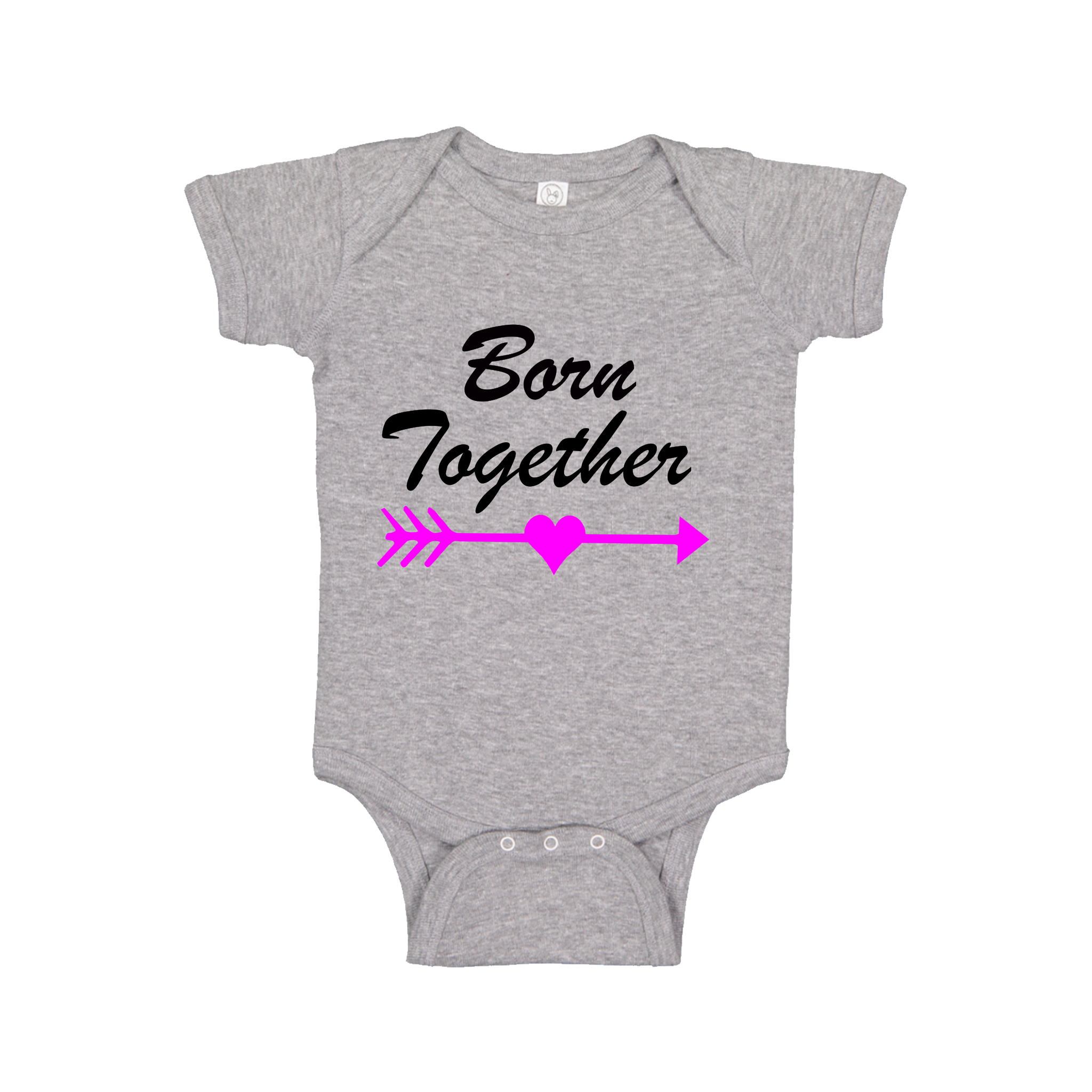 Twins Born Together Baby Onesie Matching - 0 - 24 months - Festival Printing