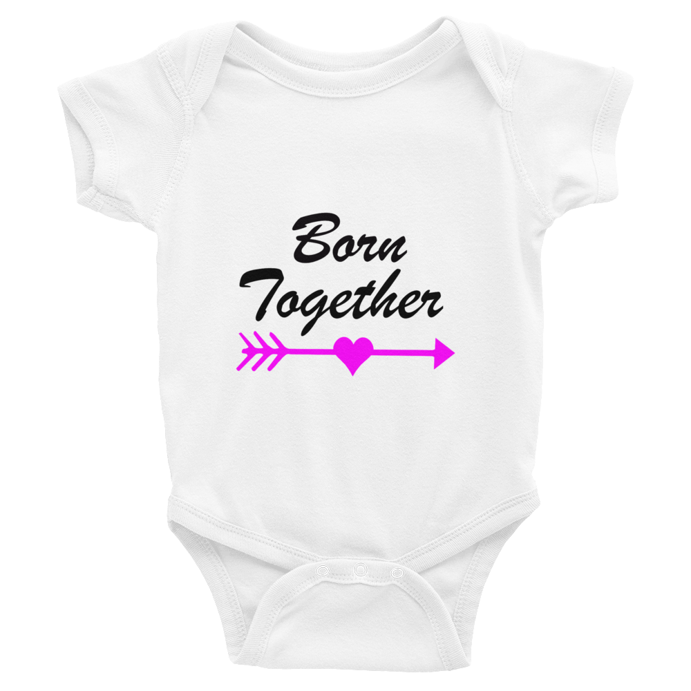 Twins Born Together Baby Onesie Matching - 0 - 24 months