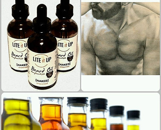 Beard Oil - NAKED Unscented - Festival Printing