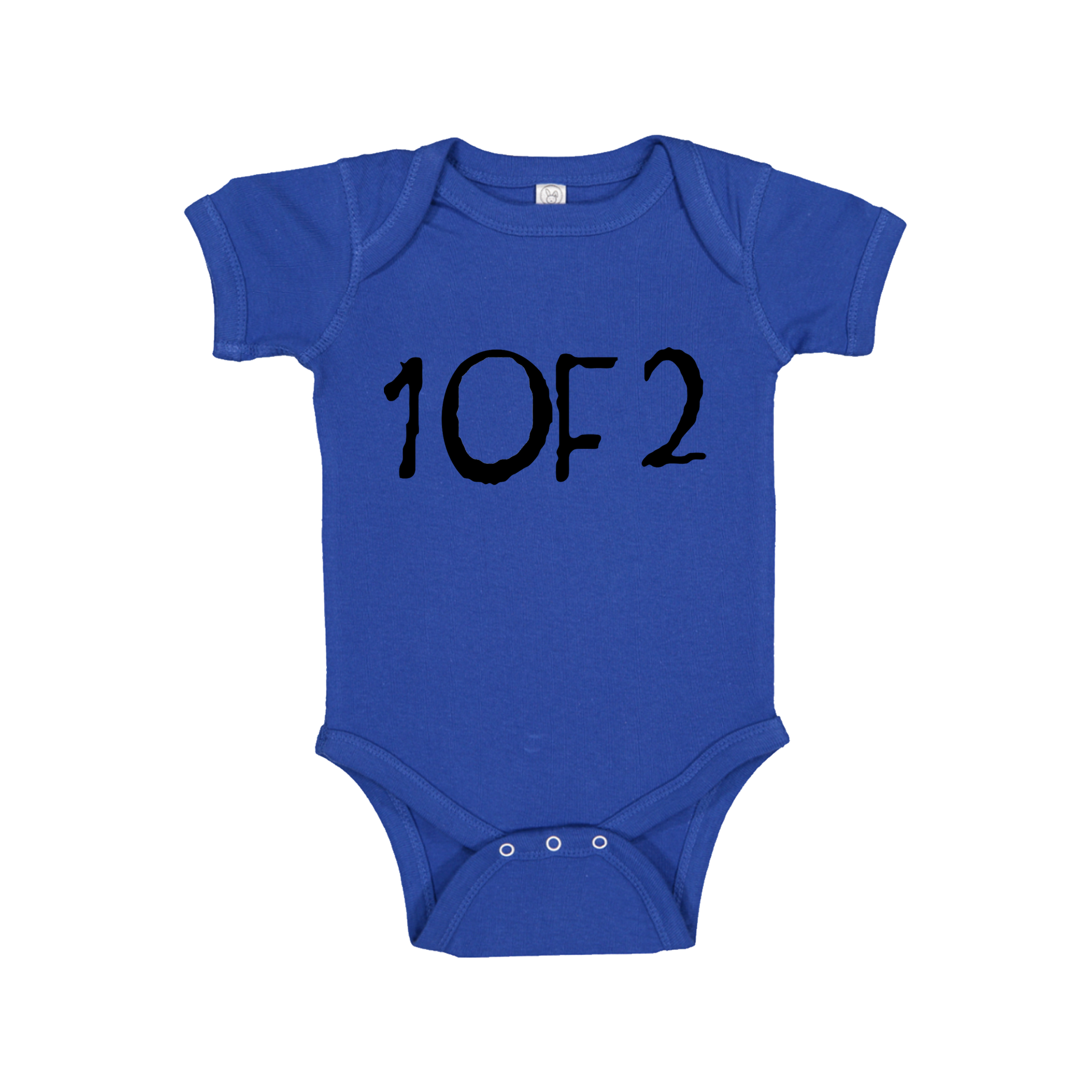 Twins One of Two (1 of 2) Baby Onesie Matching  - 0 to 24 months - Festival Printing