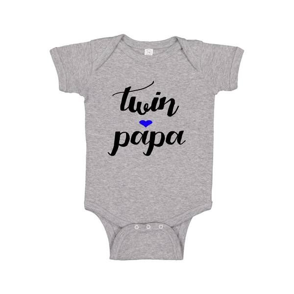 Twin Papa Matching Baby Onesie - 0 to 24 months - Festival Printing