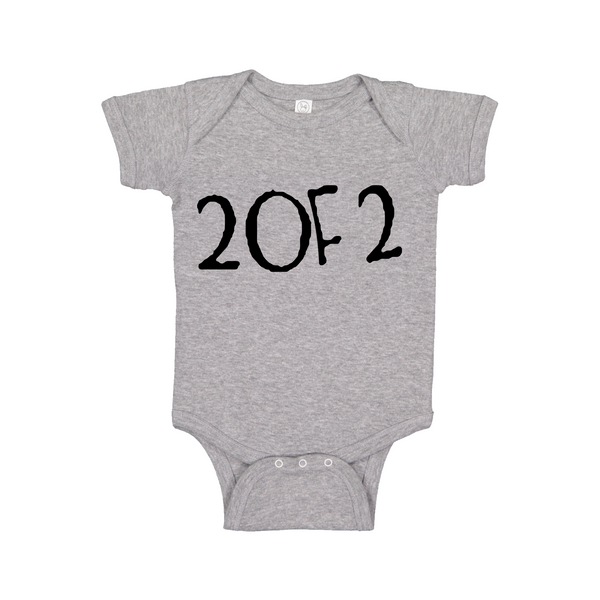 Baby Onesie Matching Twins Two of Two (2 of 2) - 0 to 24 months - Festival Printing