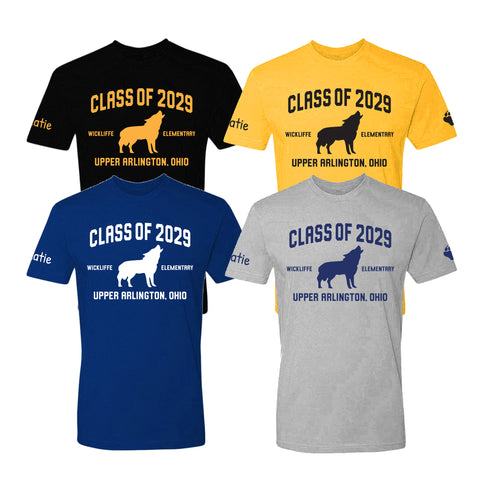 Wickliffe Progressive Elementary Upper Arlington Class of 2029 t shirt