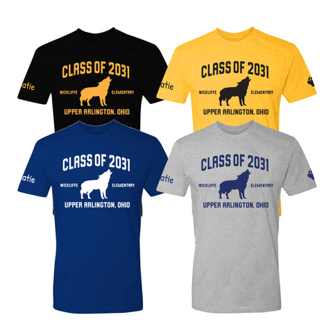Wickliffe Progressive Elementary Upper Arlington Class of 2031 t shirt