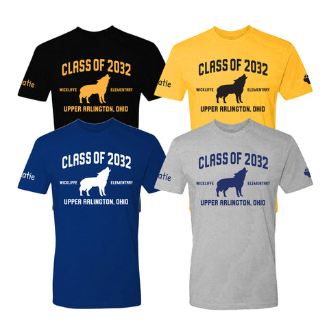 Wickliffe Progressive Elementary Upper Arlington Class of 2032 t shirt