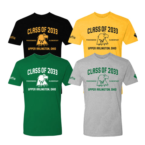 Windermere Elementary Upper Arlington Class of 2033 t shirt
