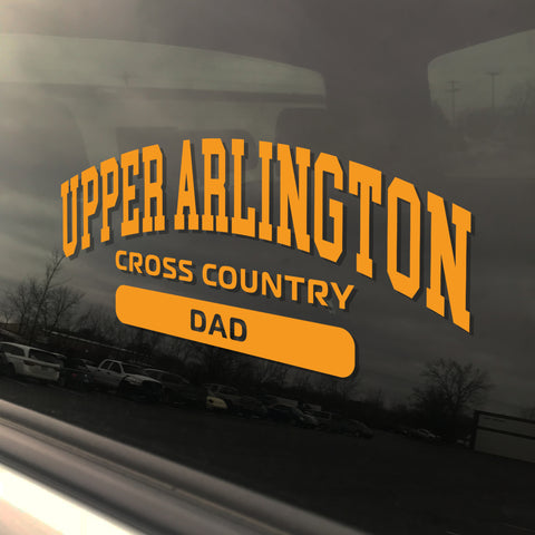 Upper Arlington Cross Country Dad UAHS Golden Bear Sticker