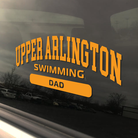 Upper Arlington Swimming Dad UAHS Golden Bear Sticker