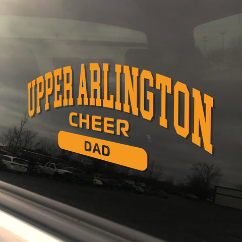 Upper Arlington Cheerleading Dad UAHS Golden Bear Cheer Sticker