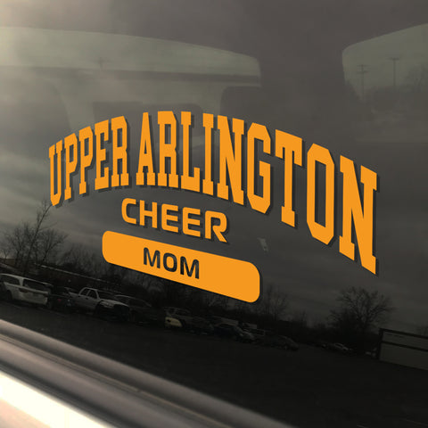 Upper Arlington Cheerleading Mom UAHS Golden Bear Cheer Sticker