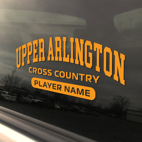 Upper Arlington Cross Country UAHS Golden Bear Sticker