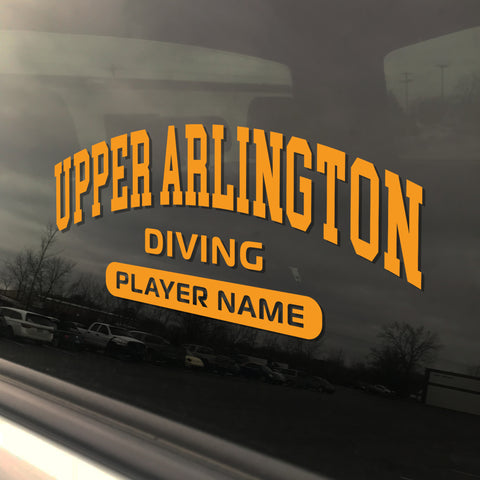 Upper Arlington Diving UAHS Golden Bear Sticker
