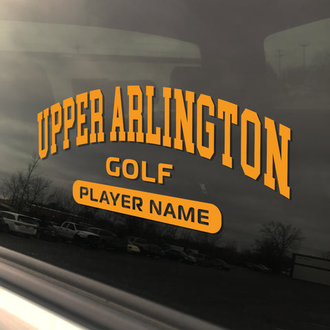 Upper Arlington Golf UAHS Golden Bear Sticker