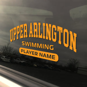 Upper Arlington Swimming UAHS Golden Bear Sticker