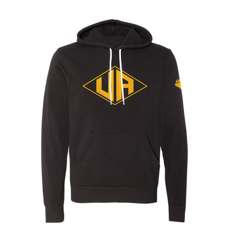 Hastings Middle School Spirit Wear vintage style diamond upper arlington black hoodie, unisex sizing, UA Outfitters