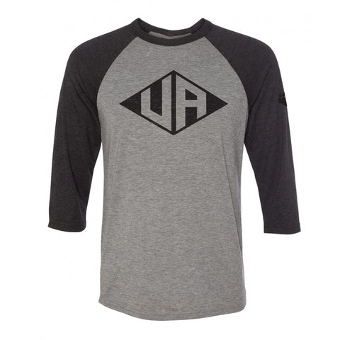 Hastings Middle School Spirit Wear vintage style diamond upper arlington black raglan shirt, unisex sizing, UA Outfitters