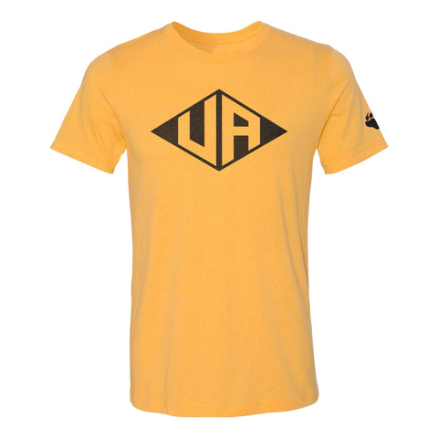 Hastings Middle School Spirit Wear vintage style diamond upper arlington gold t shirt, unisex sizing, UA Outfitters