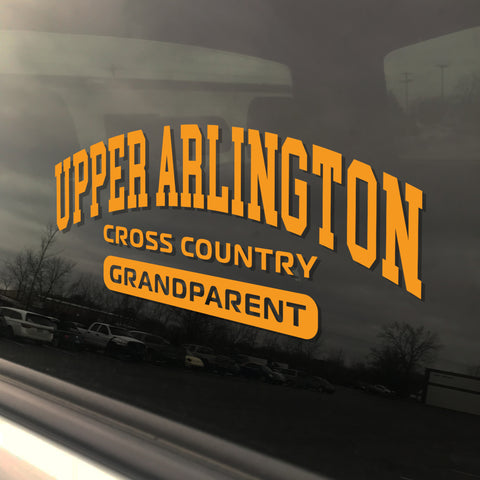 Upper Arlington Cross Country Grandparent UAHS Golden Bear Sticker