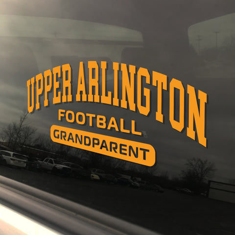 Upper Arlington Football Grandparent UAHS Golden Bear Sticker