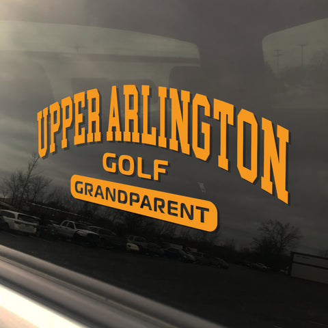 Upper Arlington Golf Grandparent UAHS Golden Bear Sticker