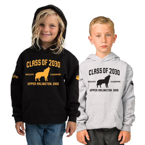 Wickliffe Progressive Elementary Upper Arlington Class of 2030 hoodie