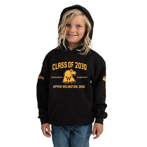 Windermere Elementary Upper Arlington Class of 2030 hooded sweatshirt black