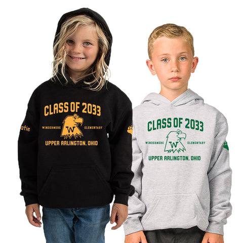 Windermere Elementary Upper Arlington Class of 2033 hooded sweatshirt