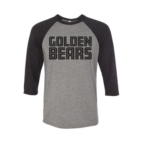 UA Outfitters - Golden Bears - raglan - black - gray - t shirt