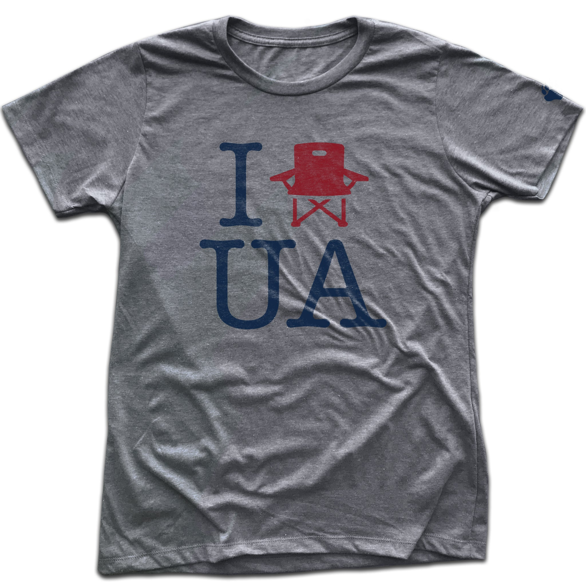 UA Outfitters - women's 'I lawnchair UA' Upper Arlington heather gray t shirt