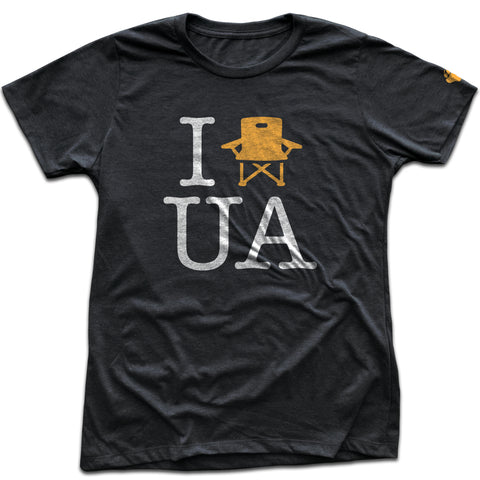 UA Outfitters - women's 'I lawnchair UA' Upper Arlington vintage black t shirt
