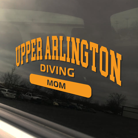 Upper Arlington Diving Mom UAHS Golden Bear Sticker